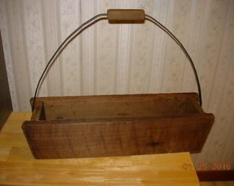 Rustic Barn Wood Mason Jar Tote  - Primitive Decor