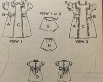 Advance 3816 girls dress panties sewing pattern, 1940's choice size 2 unused New Old Stock mail order unprinted tissue no original envelope