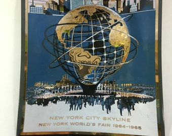 1965 NYC New York World's Fair Souvenir Collectible Glass Dish MADE in USA