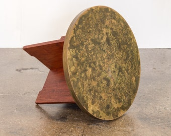 Acid-Etched Mid-Century Side Table