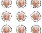 Cuatom Personalized Photo Hershey Kiss Wedding Sticker for Kathie Gazda