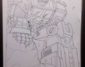 Optimus Prime transformers A4 art by Boo rudetoons