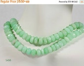 ON SALE Chrysoprase Rondelles Faceted Rondels Apple Green Earth Mined Gemstone - 6.5 to 7.5mm and 7.5 to 7.8mm - Your Choice of Length