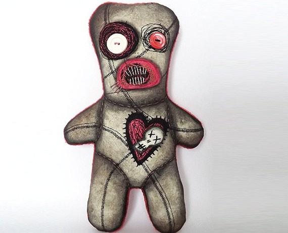 Voodoo Art Doll Gothic Horror Doll Soft Sculpture Doll