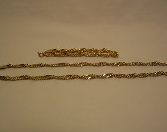 Necklace, Bracelet, Gold Vermeil Jewelry