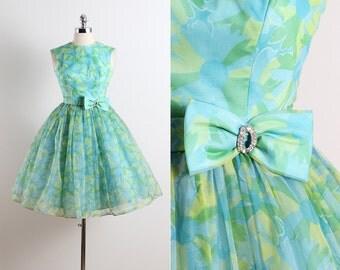 Vintage 50s Dress | 1950s vintage dress | spring floral dress xs | 5652