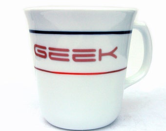 Geek Altered Vintage Coffee Mug