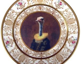 """Marquise de Struthio - Altered Antique Plate 10.5"""""""