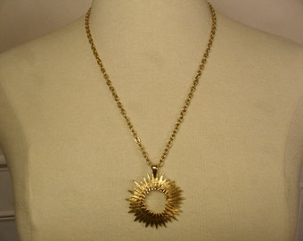 Vintage 1970's  Sarah Coventry Outer Space Pendant Necklace