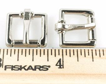 ROLLER BUCKLES 1/2 inch Heavy Duty Nickel Finish 25 pcs