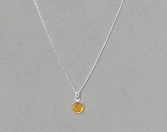 November Birthstone- Topaz Drop Necklace