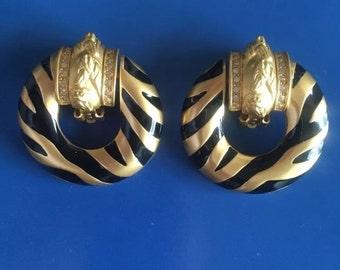 Vintage Elizabeth Taylor Gold Earrings