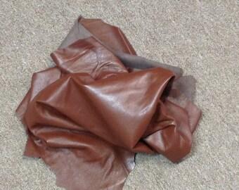 AU08.  Classic Brown Leather Deerskins