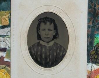 Tintype - Two Curl Girl