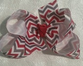 Alabama Inspired ROLL TIDE Chevron Hair Bow
