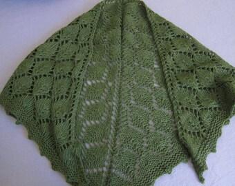Leaf: lace-knit shawl, size s/m