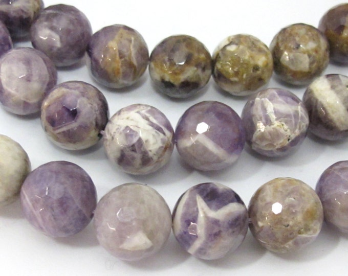 8 beads - Large 14 mm size faceted Natural amethyst beads   - GM399