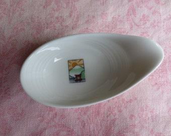Beautiful asian design Maxadura china porcelain soup spoon . Lot of 1.