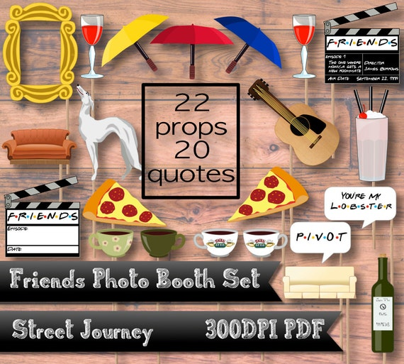 friends ultimate fan photo booth digital download pdf - Door Frame Fan