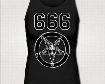 Team Satan Baphomet Pentagram Tank top