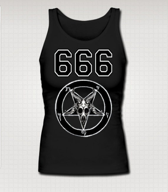 Team Satan Baphomet Pentagram Tank top