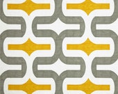 CLEARANCE SALE Premier prints embrace gray yellow geometry home deco fabric