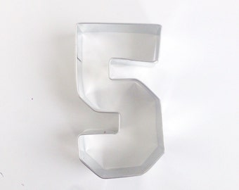 Number 5 Cookie Cutter, 5th Birthday Cookie Cutter