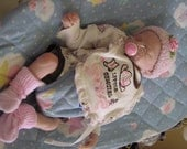 Reborn doll, Girl, Cloth body, Genesis paint , mohair, sleeping ,ooak doll, artist doll,