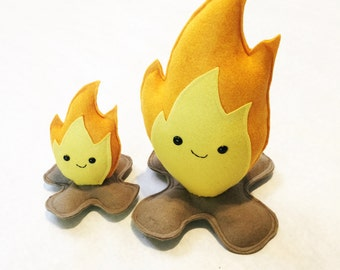 Campfire Carl Mini - Plush Pretend Fire - Ready to Ship