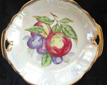 1960's Lusterware Fruit with Apples & Plums
