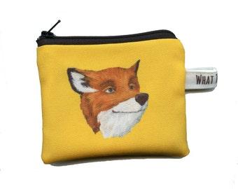 Fantastic Mr Fox Fan Art Zippered Pouch by SBMathieu