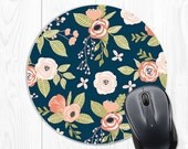 floral mouse pad employee gift coworker gift boss gift Mousepad Floral Office Supplies Office Desk Accessories Cubicle Accessories