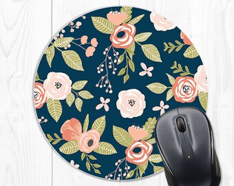 Floral Mouse Pad Employee Gift Office Decor School Supplies Dorm Decor Coworker Gift Boss Gift Mousepad Floral Office Desk Accessories