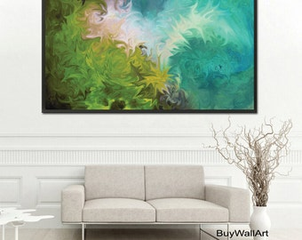 Giclee Print from Abstract Painting, Blue Modern Painting,Large Abstract Painting,Green Blue Art Print,Fine Art Print, Blue Abstract