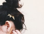 p r o t o t y p e // spike brass hair comb jewelry