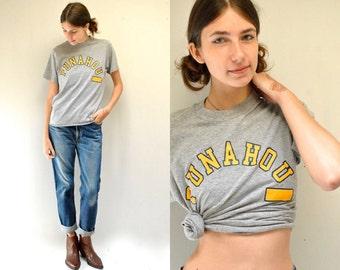 70s Hawaii T-Shirt  //  Hawaiian Tee   //   PUNAHO SCHOOL