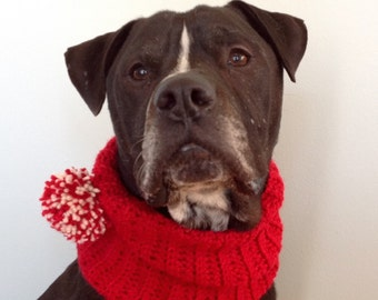 Dog Scarf, 10 Colors Available, Custom Ribbed Dog Cowl, Scarf for Dogs, Dog Clothing