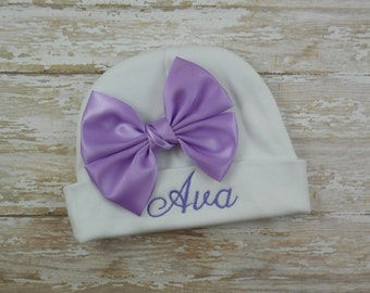 Baby girl hat, Personalized, embroidered baby hat, baby beanie hat, hospital hat, newborn baby girl hat, beanie, cap, infant, photo prop