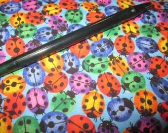destash 6 1/2 yards total of ladybug fabric