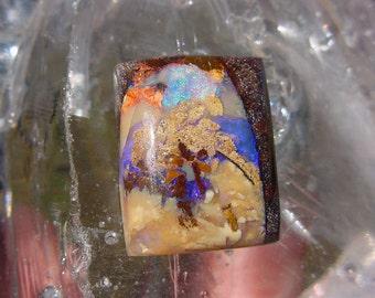 Purple Australian Boulder Opal Cabochon 9ct Rectangle Stone  16T162 #7