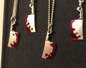 Bloody Meat Cleaver Necklace