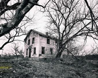 Overtaken  Abandoned Ohio at it's finest, B&W  Fine Art  Photographic Print
