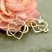 Sterling Silver Heart Charm with Bronze Infinity - C3122,  Intertwined Heart, Bridal Gift