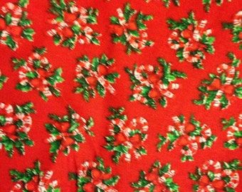 Christmas wreath fabric