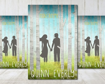 """Premade eBook Book Cover Design """"Quinn and Everly"""" Whimsical Contemporary Romance Love Young New Adult YA"""