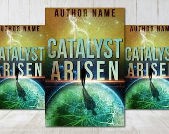 "Premade Digital eBook Book Cover Design ""Catalyst Arisen"" Science Fiction Sci Fi Adult Fiction"