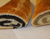 Traditional Hungarian Nut and Poppy Roll,Beigli