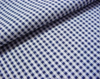 Vintage 30s Cotton Fabric Reclaimed from Bias Skirt Daydress -Black & White Gingham Small Check for Quilts, Sewing, Crafts