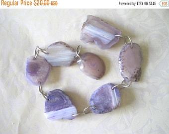 20% OFF ON SALE Purple Agate Pendant Beads, 7 pcs Gemstone Beads