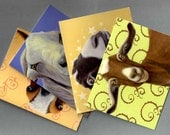 Goat Cards - Goat Note Cards 4-pack - Goat Art - Assorted Goat Cards - 10% Benefits Animal Rescue